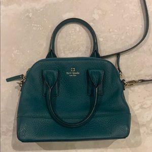 Kate Spade Green Pebbled Leather Crossbody Bag
